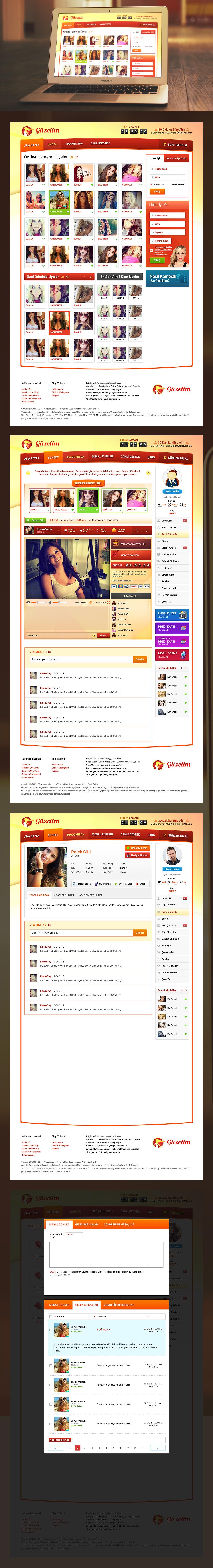 canlı sohbet sitesi tasarımı